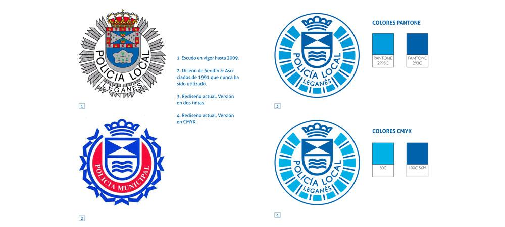 Rediseño del escudo de la policía local de Leganés